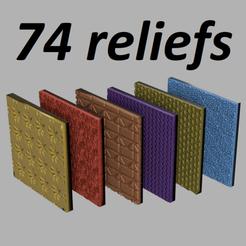 74re2.png Download STL file 74 textured reliefs • 3D printing model, motek