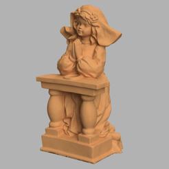priere d'un ange 4 .png Download STL file Prayer of an angel • 3D printing model, motek