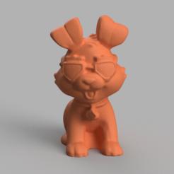 Chien a lunette rendu 4.png Download STL file Spectacled dog • 3D printing model, motek