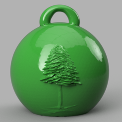 sapin 1 .png Download free STL file fir Christmas ball • 3D printable object, motek