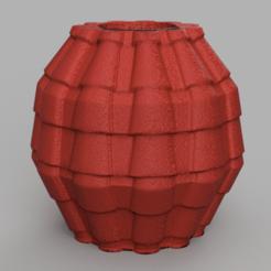 17 rendu 1 .png Télécharger fichier STL vase 17 tuile  • Plan imprimable en 3D, Motek3D