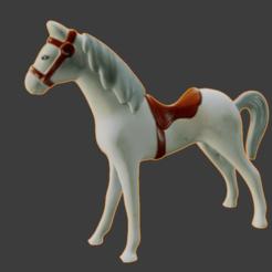 cheval pres 1.png Download free STL file Horse • 3D printable template, Motek3D