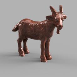 bouc rendu 1 .png Download STL file goat • 3D printing design, motek