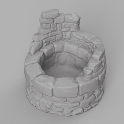 puit d epierre rendu 1 .png Download STL file stone well • 3D printer model, Motek3D