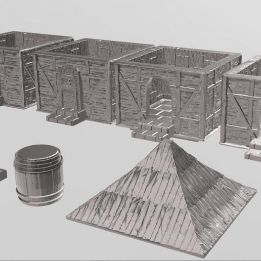 Sans titre 3.png Télécharger fichier STL Tiny house • Plan pour impression 3D, Motek3D
