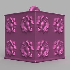 444 rendu 1 .png Download STL file Garland cube • Model to 3D print, motek