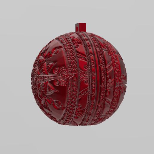mandala sphere noel 42.png Download free STL file christmas ball 6 • 3D printable model, Motek3D