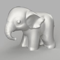 Télécharger fichier STL gratuit Éléphant mini • Objet pour impression 3D, Motek3D