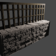 Download free 3D model Low wall, Motek3D