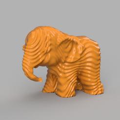 0027.png Télécharger fichier STL Elephant  • Modèle pour imprimante 3D, motek