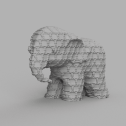 00044.png Télécharger fichier STL Elephant  • Modèle pour imprimante 3D, motek