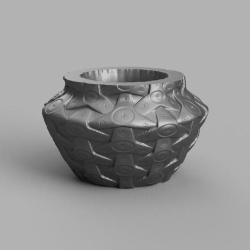 vase mecha rendu 3 .png Télécharger fichier STL X86 Mini vase collection  • Objet imprimable en 3D, motek