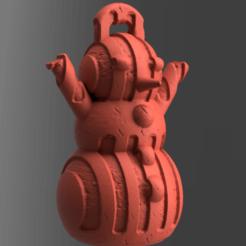 59.png Télécharger fichier STL Bonhomme de neige • Design imprimable en 3D, motek