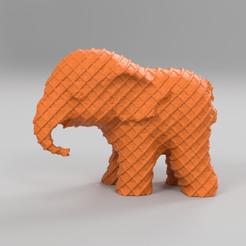 2274.png Download STL file Elephant • 3D printing object, motek