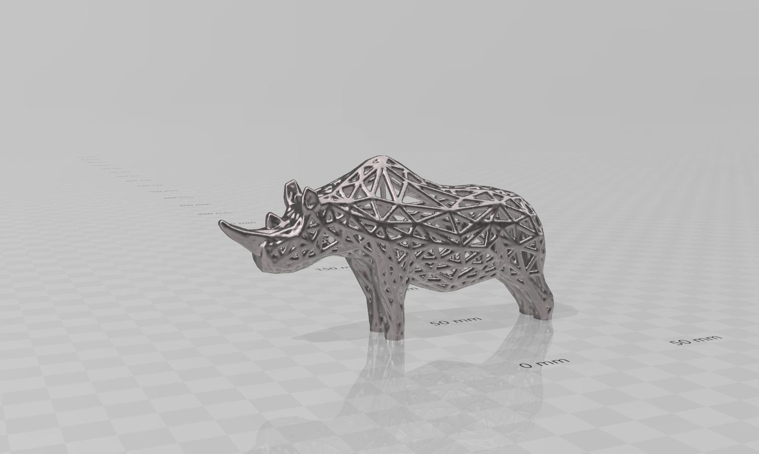 rhino pres.png Télécharger fichier STL Rhino Voronoï • Design pour imprimante 3D, motek