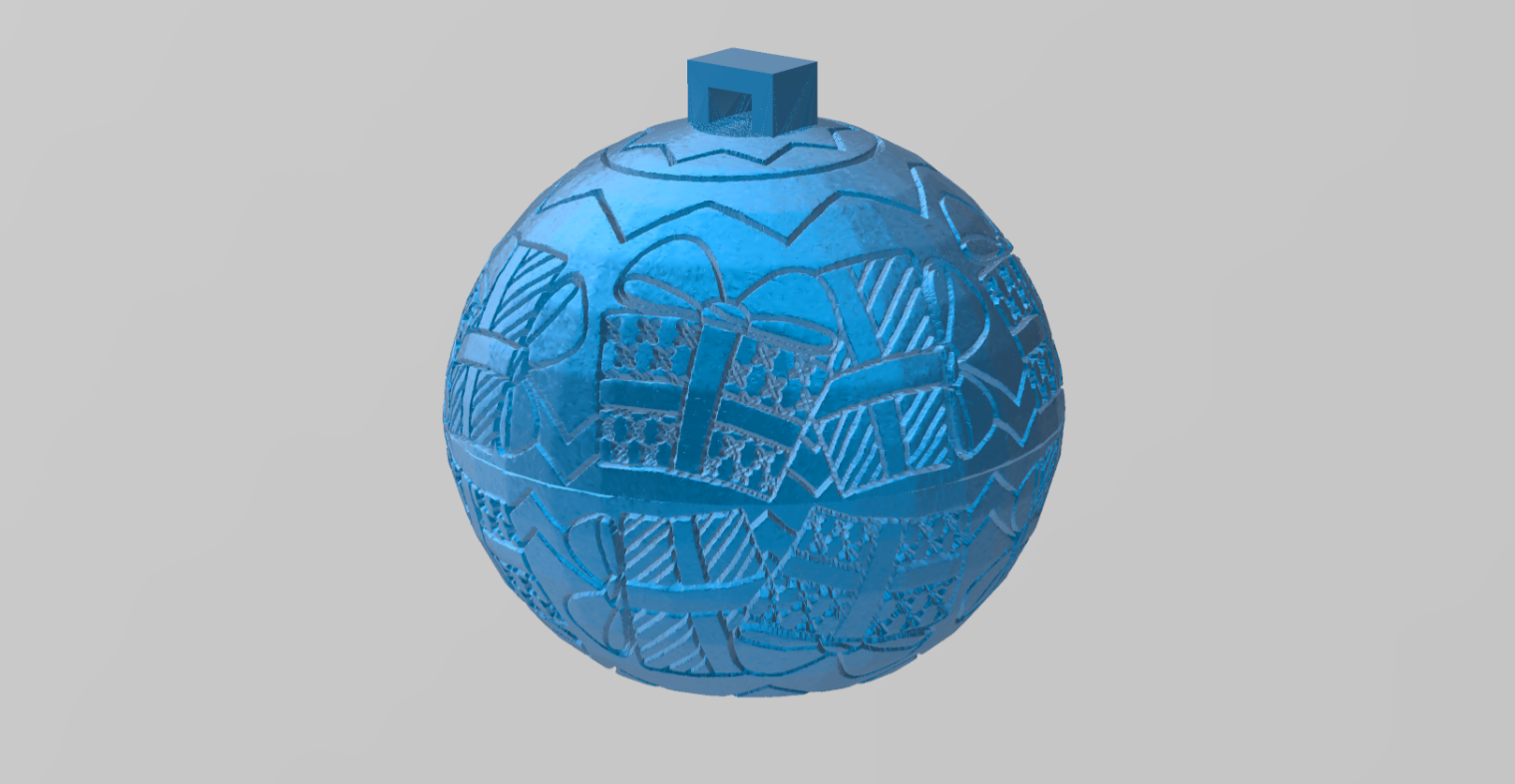 boule de noel 2.png Download free STL file christmas ball 2 • Object to 3D print, Motek3D