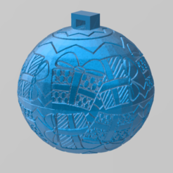 Download free STL christmas ball 2, Motek3D