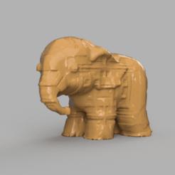 00022.png Télécharger fichier STL Elephant  • Modèle pour imprimante 3D, motek