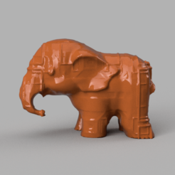020.png Télécharger fichier STL gratuit Elephant  • Modèle pour imprimante 3D, motek
