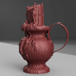 bougeoir rendu 12 .png Download STL file Old candle holder • Model to 3D print, Motek3D