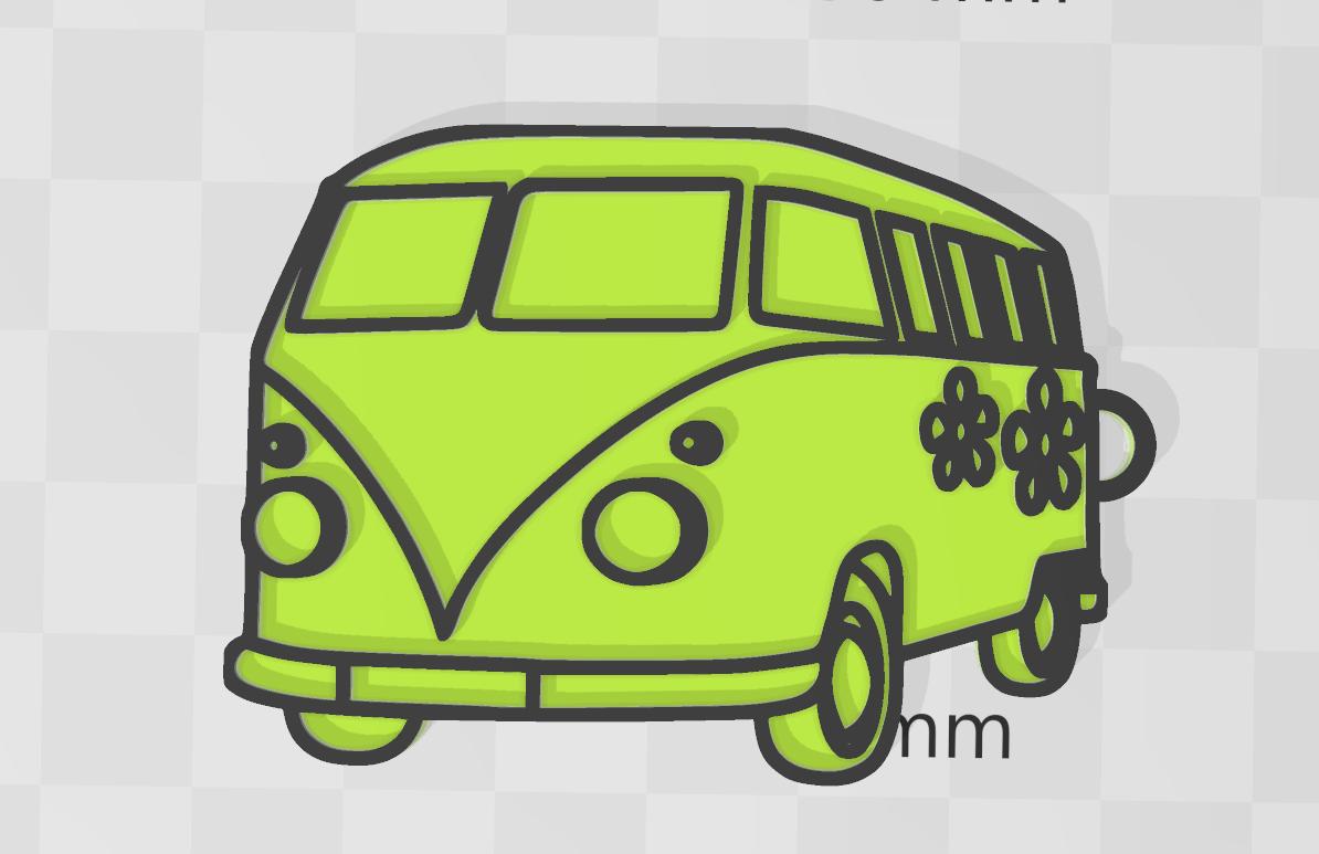 VANette.png Download free STL file Van • 3D printable template, motek