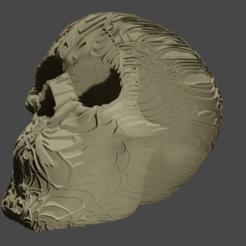 Descargar modelos 3D gratis Mariposa Mandala del cráneo, Motek3D