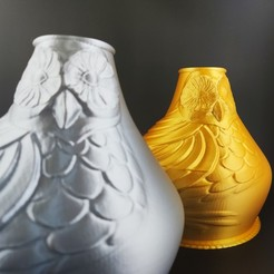 Download 3D printer designs Owl Vase, Motek3D