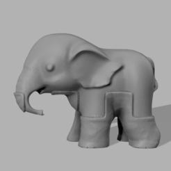 003.png Télécharger fichier STL Elephant  • Modèle pour imprimante 3D, motek