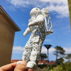 IMG_20200621_094005.jpg Download STL file Spaceman Voronoi cosmonaut • 3D print design, Motek3D