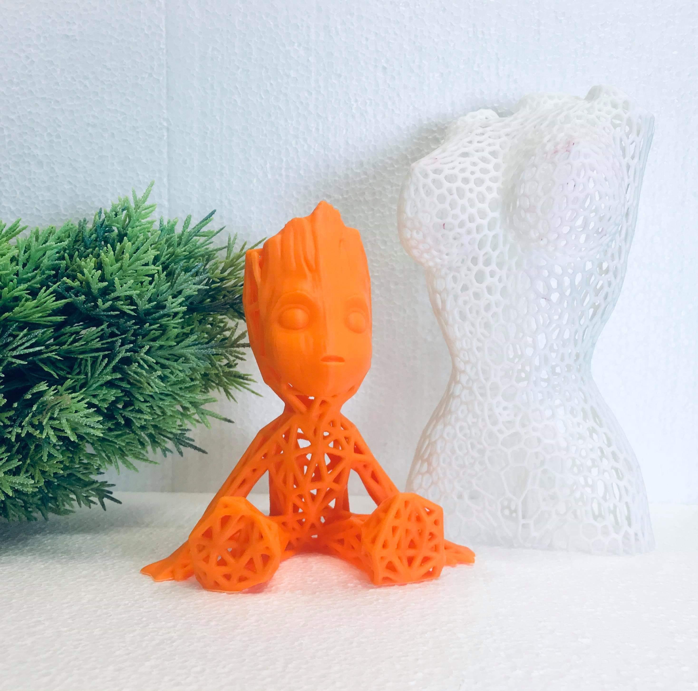 received_2820121198048725.jpeg Download free STL file Groot voronoi • 3D print object, Motek3D