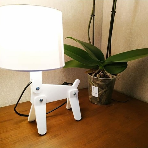 Télécharger plan imprimante 3D gatuit dog lamp, Motek3D