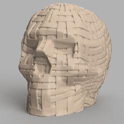 skull bandes rendu 1 .png Download STL file X2 band skull • 3D printing model, Motek3D
