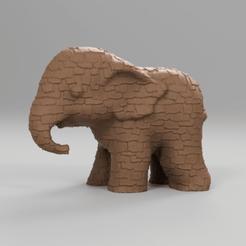272.png Download STL file Elephant • 3D printing object, motek