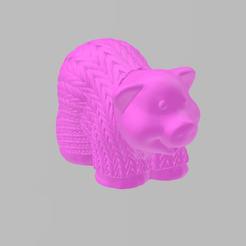 cochon corde.png Download free STL file rope pig • 3D print template, Motek3D