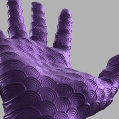 main ecaille 3 .png Download STL file Spiral hand • 3D printing model, Motek3D