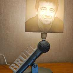 Download 3D printer model Patrick Bruel Lamp, Motek3D