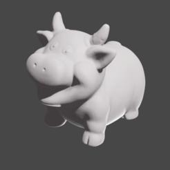 vache pres 2 .png Download STL file Bull • Object to 3D print, Motek3D