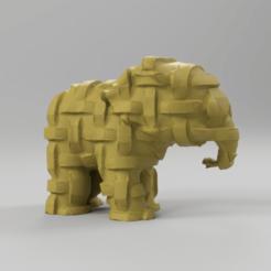 2273.png Télécharger fichier STL Elephant  • Modèle pour imprimante 3D, motek