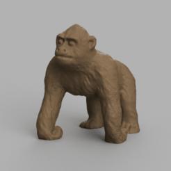 gorille pres 2.png Download STL file Gorilla • Template to 3D print, Motek3D