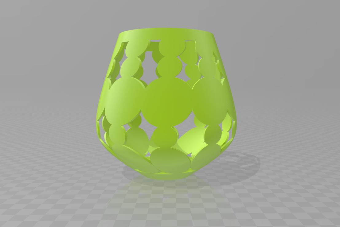 bubble V4.png Download STL file bubble lamp shade • 3D printing design, motek