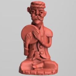 bois 4 .png Download STL file Ancient wooden statue • Model to 3D print, motek