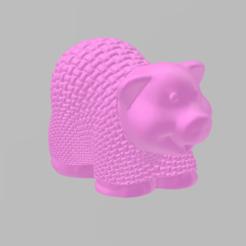 cochon tricot.png Download free STL file knitting pig • Model to 3D print, Motek3D