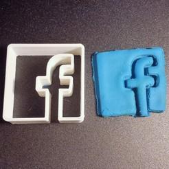 3D printing model facebook cookies cookies cutter, Motek3D