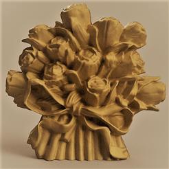 flower vase rendu 1 1.png Télécharger fichier STL porte stylo vase au motif fleur  • Design à imprimer en 3D, Motek3D