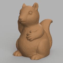 ecureuil rendu 1 .png Télécharger fichier STL Ecureuil  • Objet imprimable en 3D, Motek3D