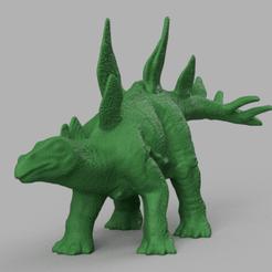 dinosaure a pic dos rendu 1 .png Télécharger fichier STL Dinosaure pic dos 2  • Objet imprimable en 3D, Motek3D