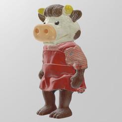 vache roe 1.png Download STL file cow dress • 3D printer design, Motek3D