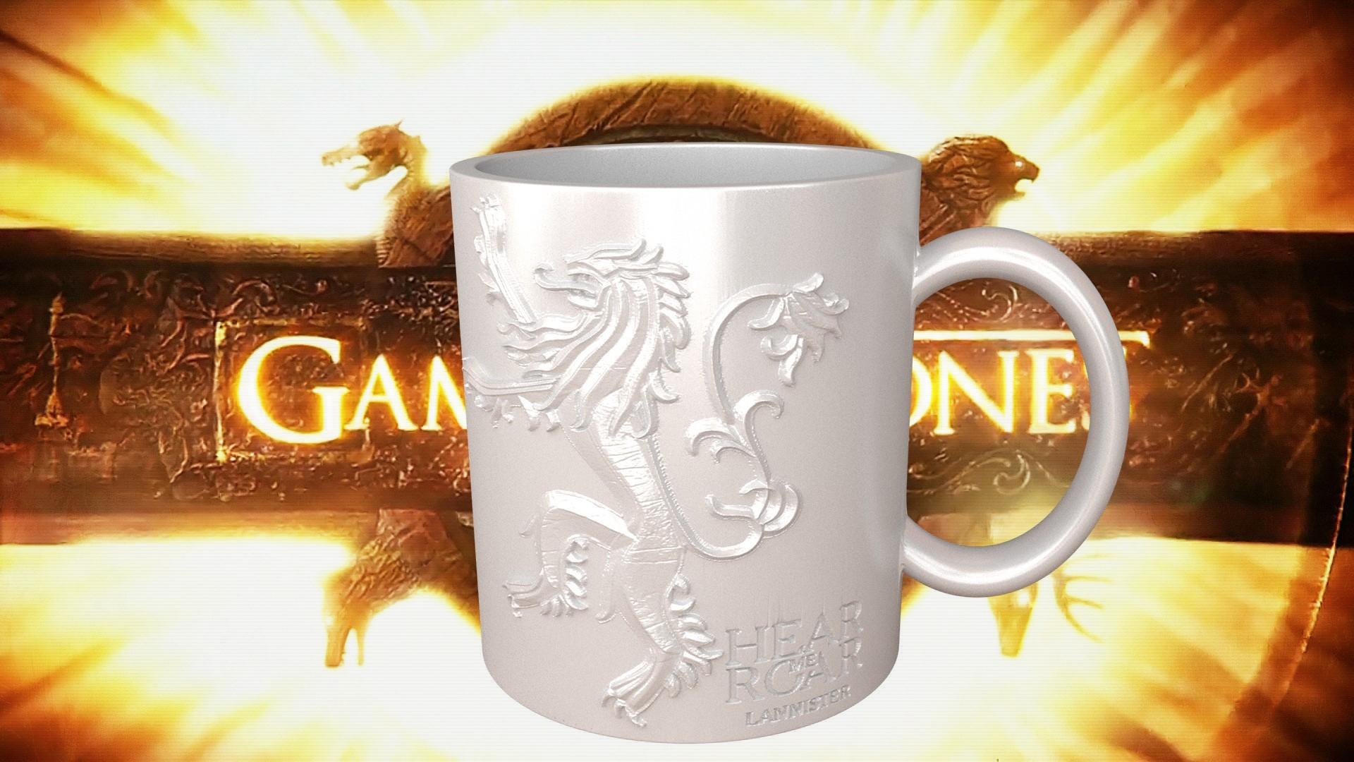 3.1.jpg Download STL file Game Of Thrones Lannister Coffee Mug • 3D printable model, SimaDesign
