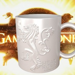 Download 3D printer designs Game Of Thrones Lannister Coffee Mug, SimaDesign