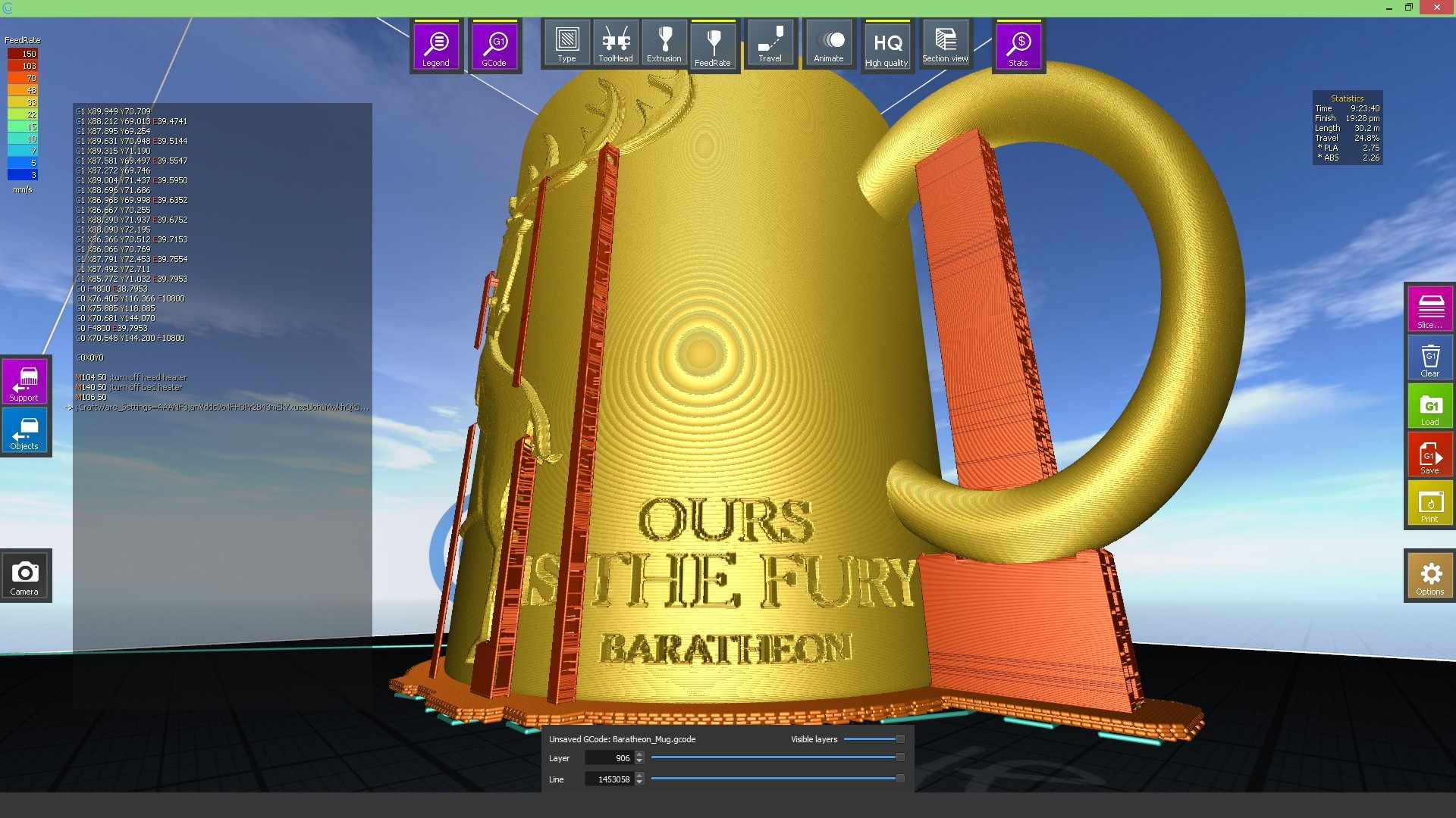 2.2.jpg Download STL file Game Of Thrones Baratheon Coffee Mug • 3D print object, SimaDesign